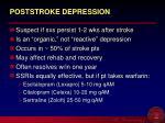 poststroke depression