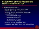 secondary stroke prevention risk factor modification23