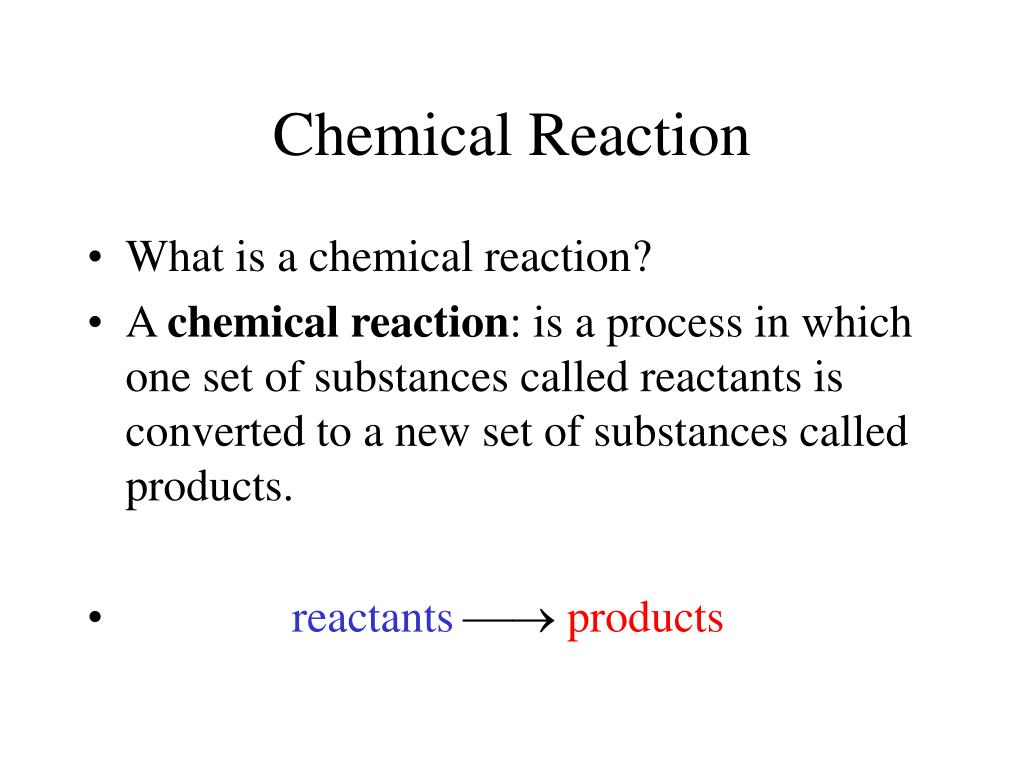 chemical reaction l.