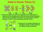 dalton s atomic theory 2