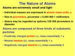 the nature of atoms