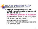 how do antibiotics work27