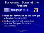 background scope of the problem5
