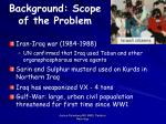 background scope of the problem6