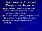 environmental exposure temperature regulation