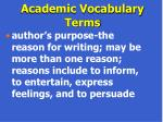 academic vocabulary terms66