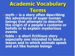 academic vocabulary terms67