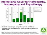 international cover for homeopathy naturopathy and phytotherapy