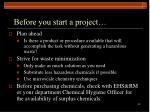 before you start a project