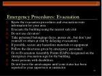 emergency procedures evacuation