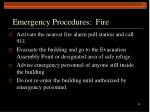 emergency procedures fire