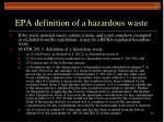 epa definition of a hazardous waste