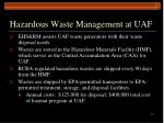 hazardous waste management at uaf