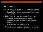 listed wastes