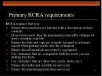 primary rcra requirements