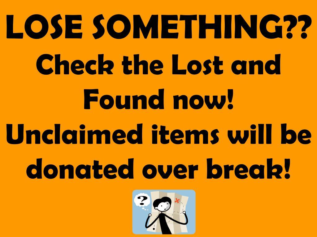 LOSE SOMETHING??