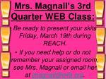 mrs magnall s 3rd quarter web class