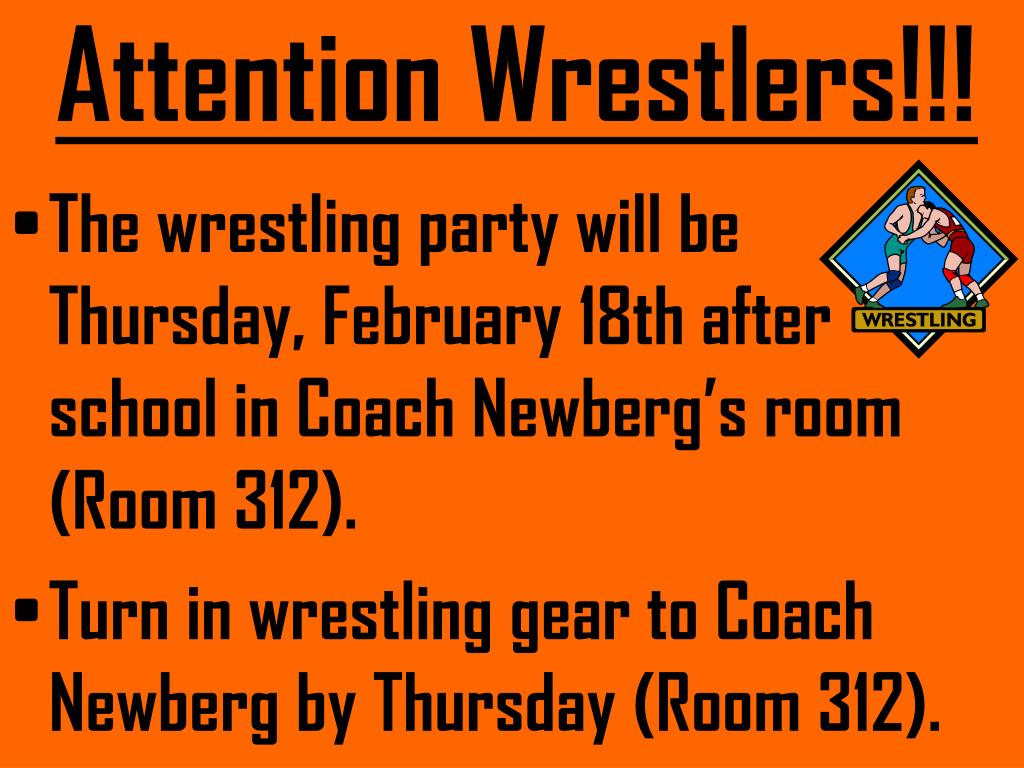 Attention Wrestlers!!!