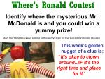 where s ronald contest