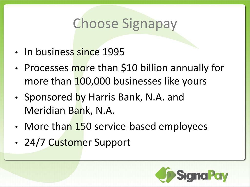 Choose Signapay