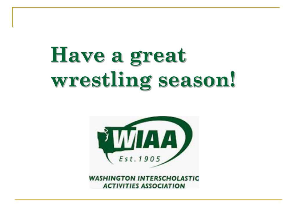 Have a great wrestling season!