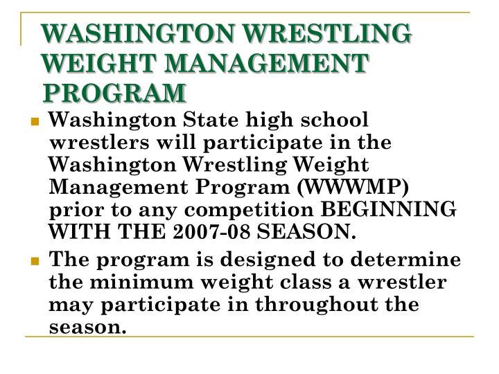 Washington wrestling weight management program2