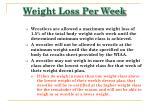 weight loss per week