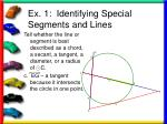 ex 1 identifying special segments and lines11