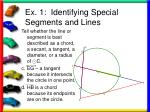 ex 1 identifying special segments and lines12