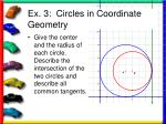 ex 3 circles in coordinate geometry