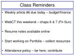 class reminders