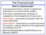 the financial audit