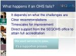 what happens if an ohs fails