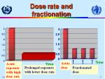 dose r ate and f r actionation