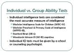individual vs group ability tests