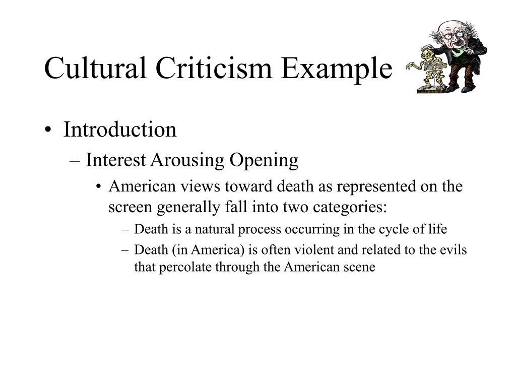 cultural criticism example l.