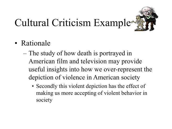 Cultural criticism example2