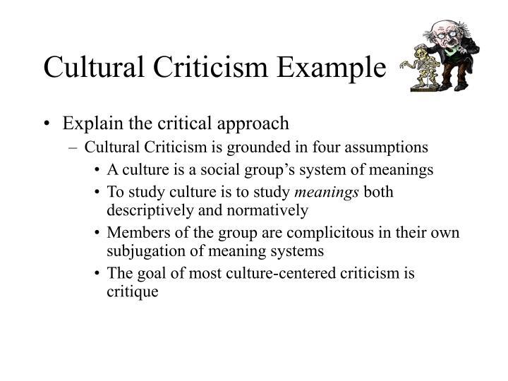 Cultural criticism example3