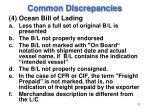 common discrepancies11