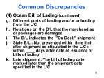 common discrepancies12