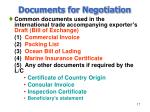 documents for negotiation17