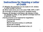 instructions for opening a letter of credit4