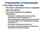 presentation of documents20