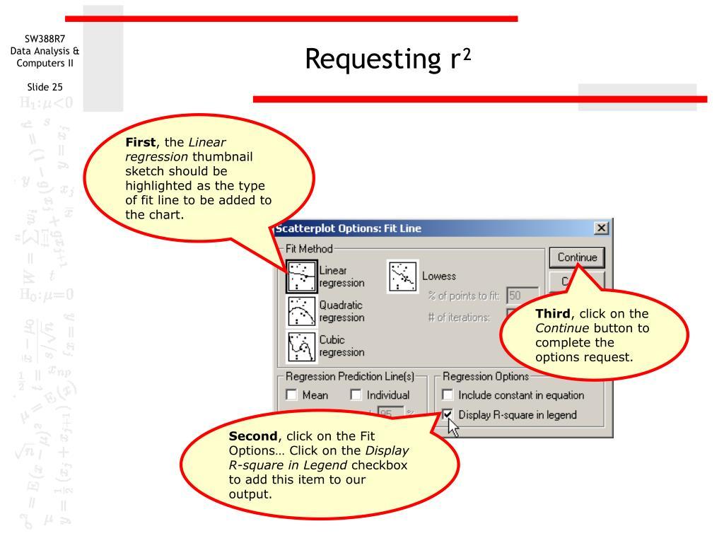 Requesting r²