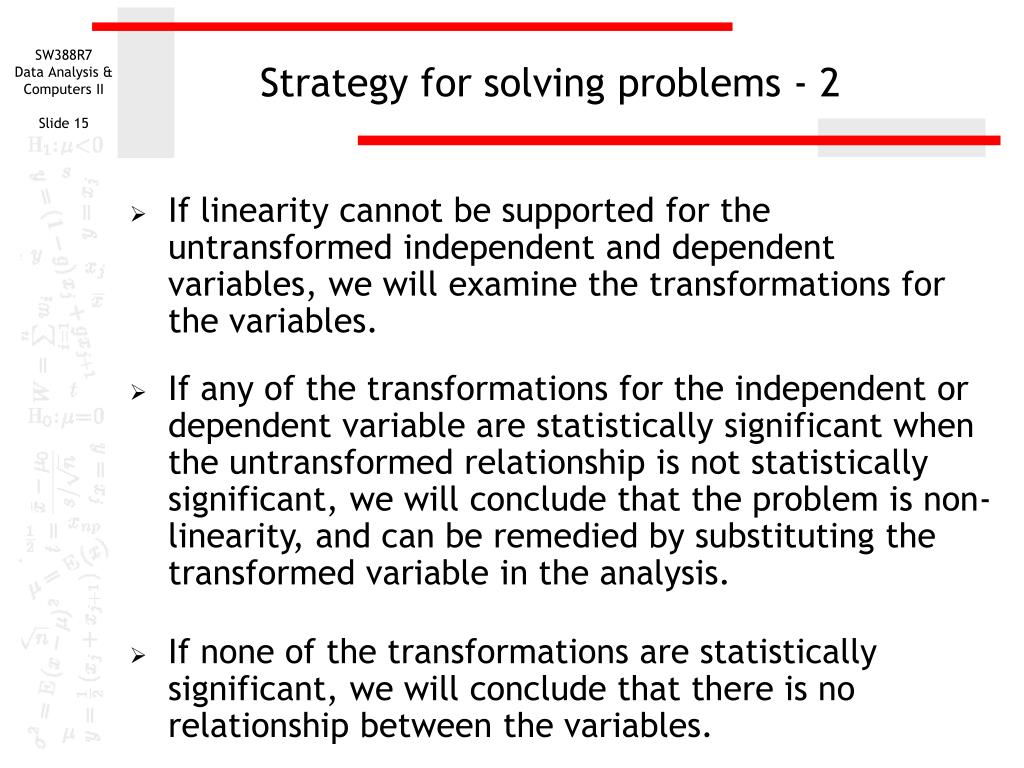 Strategy for solving problems - 2