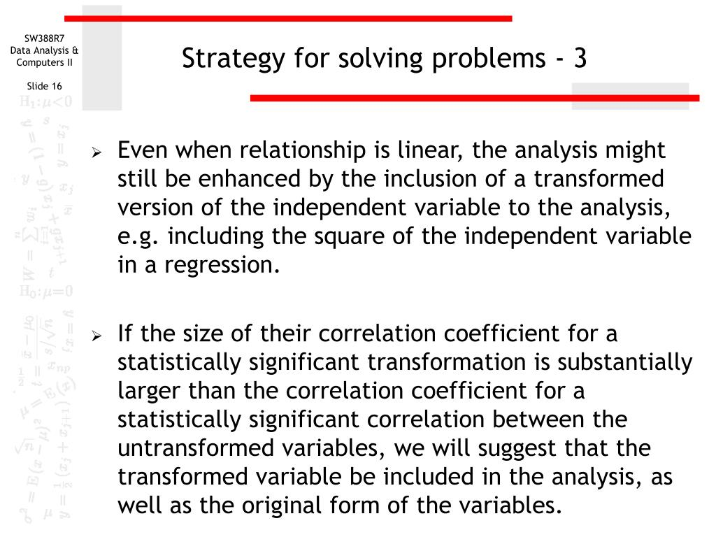 Strategy for solving problems - 3