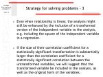 strategy for solving problems 3