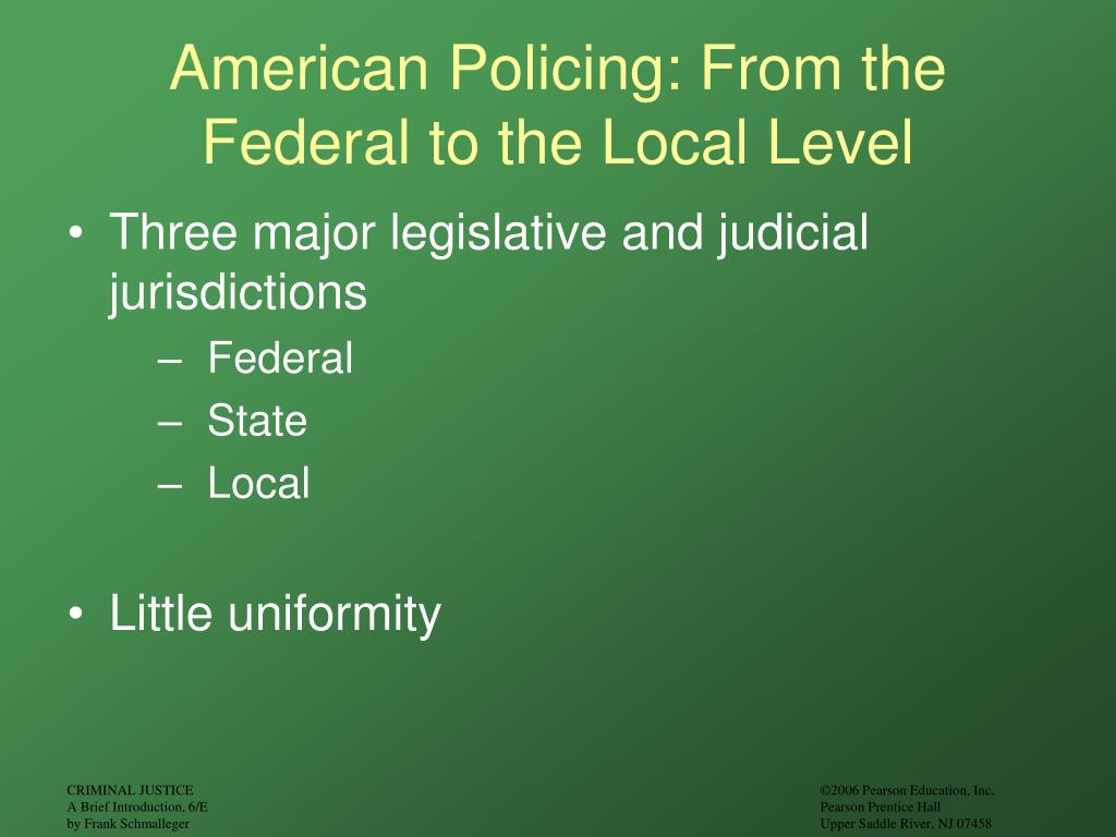 American Policing: From the Federal to the Local Level
