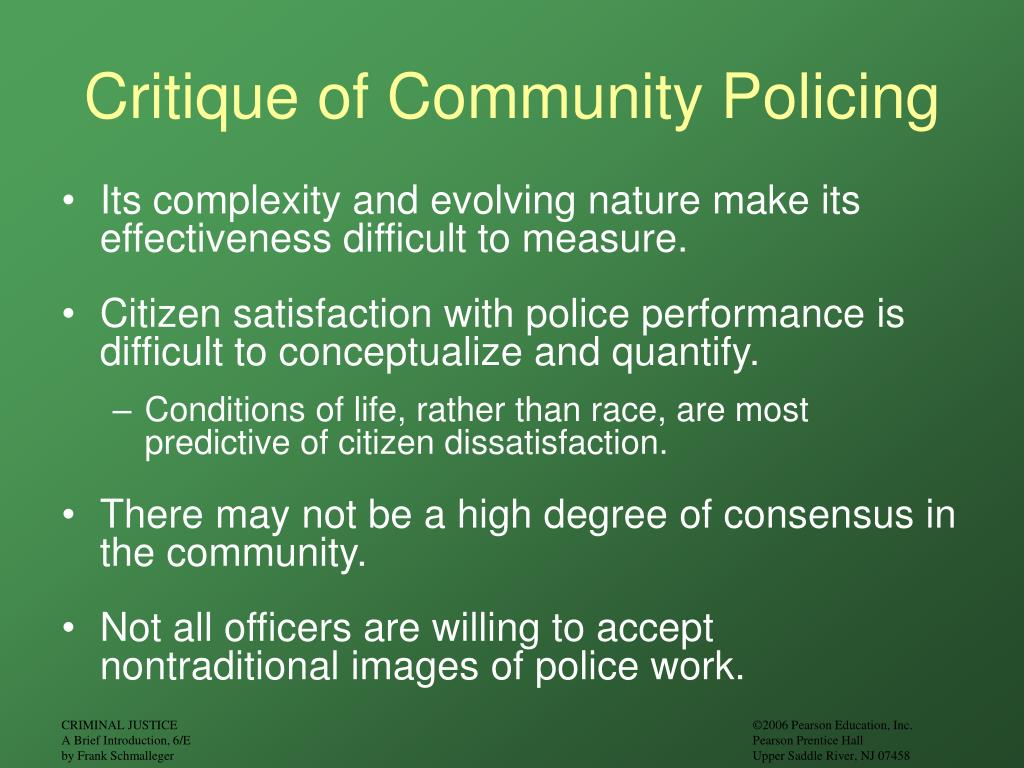 Critique of Community Policing