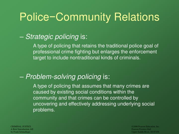 police and community relations essay This chapter defines police–community relations distinguishes it from public  relations, community  the history of improving police–community relations and  then analyzes the strategies of  part three: essay questions 1 what are three .